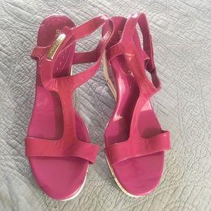 BCBGirl- Purple, Wedge Heel, Platform Sandal Sz 11